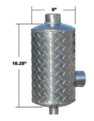 Aluminum Vertical Muffler