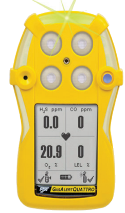 BW Gas Alert Quattro Multi-Gas Monitoring